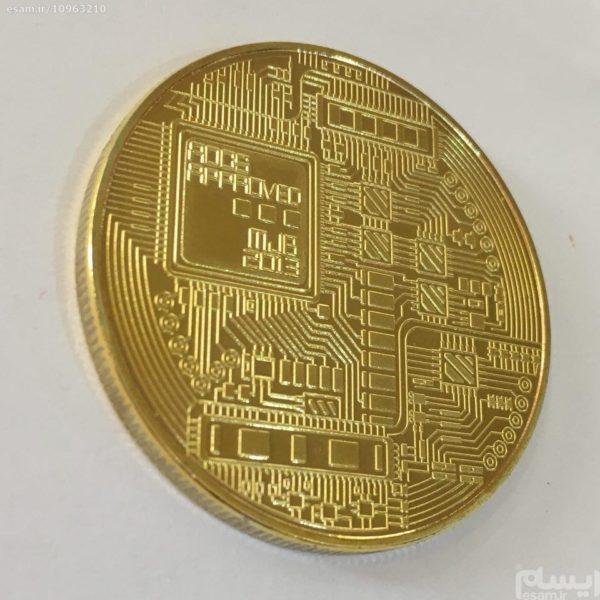 سکه بیت کوین طلایی